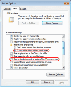 Windows Folder Options