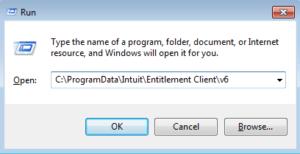 Run Command to Open Entitlement Client Folder