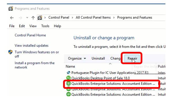 Repair QuickBooks Desktop