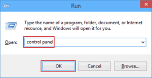 Run Control Panel from Command Prompt