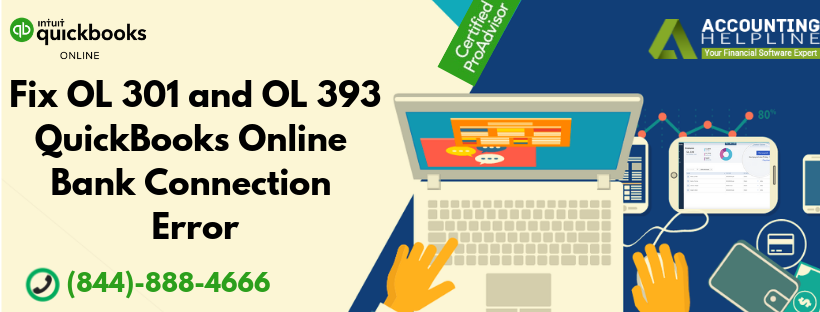 Fix OL 301 and OL 393 QuickBooks Online Banking Connection Error