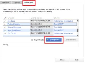 QuickBooks Desktop Get Updates