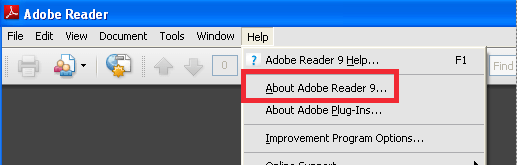 About Adobe Reader Option