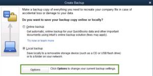 Change QuickBooks Backup Path