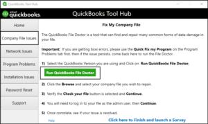 QuickBooks File Doctor in Tool Hub