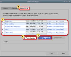 Reset and Install QuickBooks Update