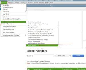 QuickBooks Accounting Tools Merge Vendors