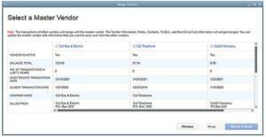 QuickBooks Client Data Review Merge Vendors