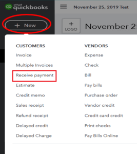 QuickBooks Online Receive Payment from the Customers