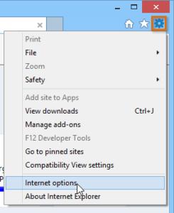 Internet Explorer Internet Options