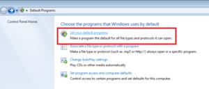 Set your Default Program in Windows
