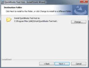 QuickBooks Tool Hub Install Shield Wizard