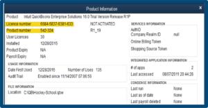 QuickBooks Product Information