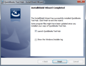QuickBooks Install Shield Wizard Completed