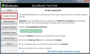 QuickBooks Tool Hub Company File Issues