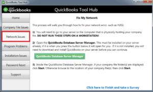 QuickBooks Tool Hub Network Issues