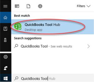 Search QuickBooks Tool Hub