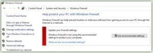 Update Windows Firewall