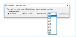 QuickBooks Clean Install Utility